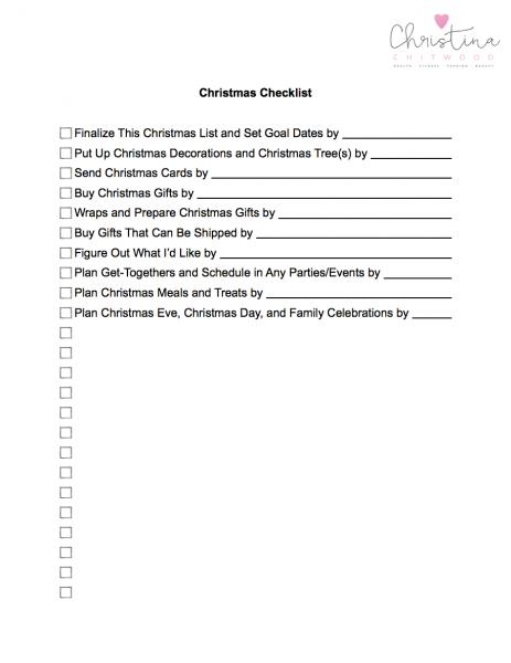 Christmas Checklist FREE Printable