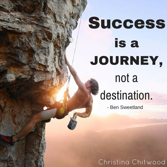 """Free-Printable - """"Success Is a Journey Not a Destination"""" Word-Art"""