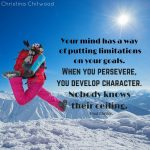 """Free Printable – """"When You Persevere, You Develop Character"""" Word Art"""