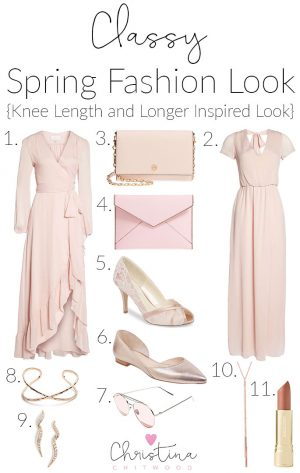 Classy Spring Fashion Look {Knee Length and Longer Look}