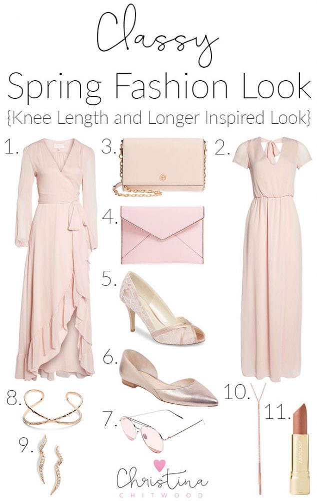 Classy Spring Fashion Look {Knee Length and Longer Inspired Look}