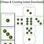 FREE Duck Walks Dice Printable {Fitness & Counting Instant Download}