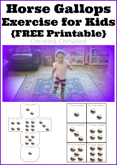 Horse Gallops Exercise for Kids {FREE Printable}