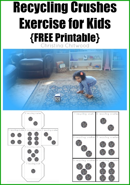 Recycling Crushes Exercise for Kids FREE Printable