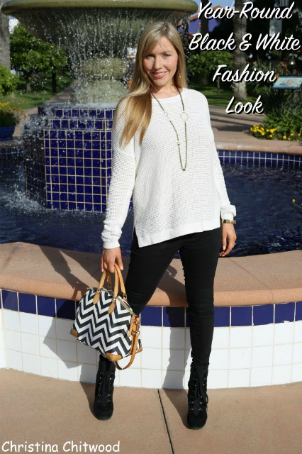 Year-Round Black & White Fashion Look