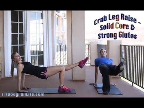 Crab Leg Raise – Solid Core, Strong Butt