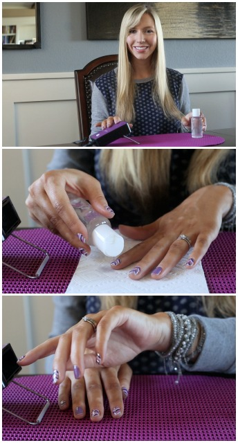 Removing Jamberry Nail Wraps: Coconut Oil and Jamberry Heater
