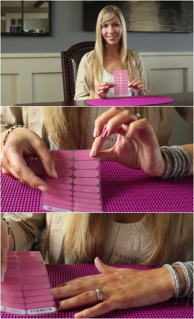 Sizing Your Jamberry Nail Wraps Using the Clear Backing