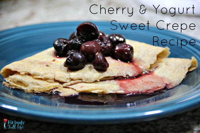Cherry & Yogurt Sweet Crepe
