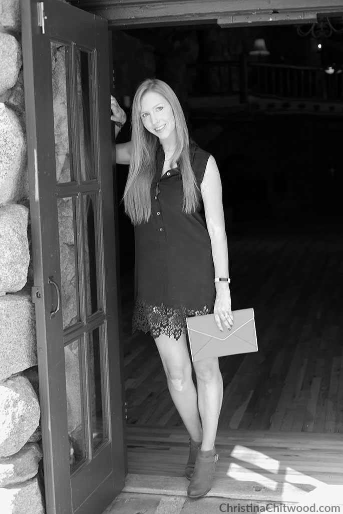 Equipment Silk Dress, Rebecca Minkoff Clutch, and Caslon Booties - 3