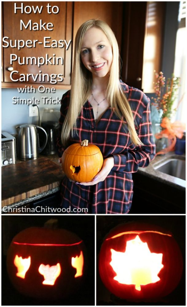 How to Make Super-Easy Pumpkin Carvings with One Simple Trick