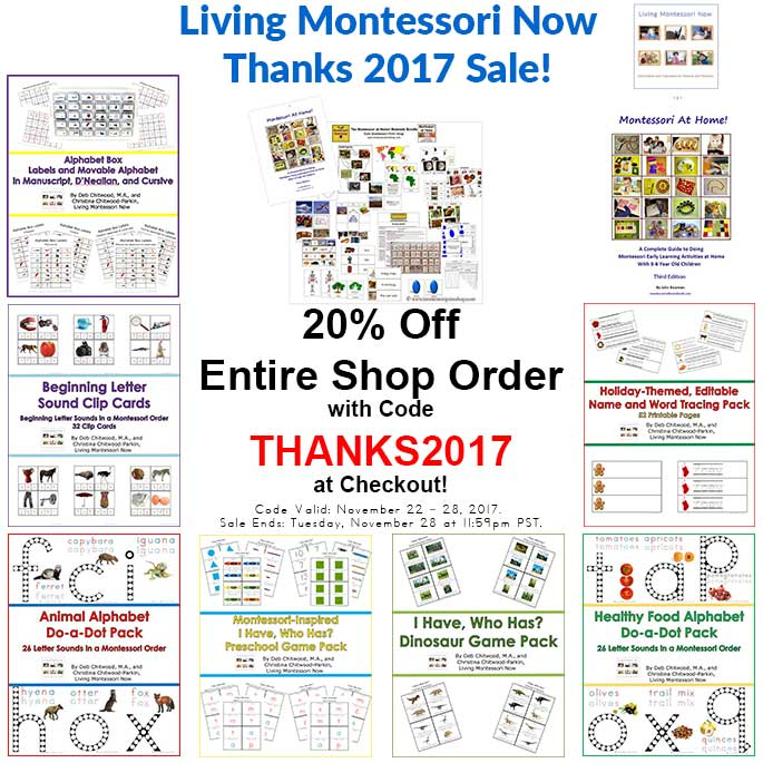 Living Montessori Now Store Products and Sale - THANKS2017