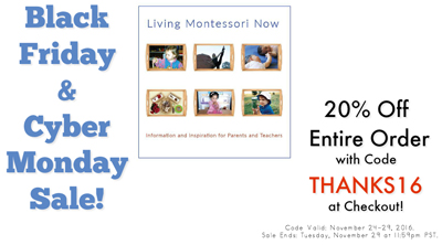 Black Friday and Cyber Monday Sale at Living Montessori Now