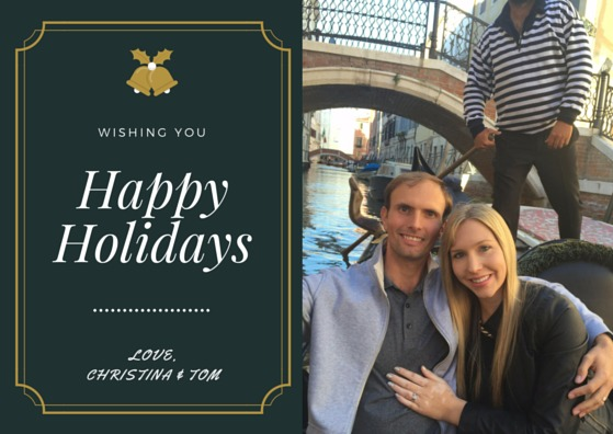 Happy Holidays from Christina and Tom
