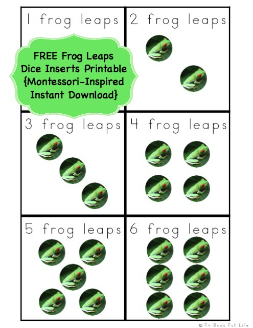 FREE Frog Leaps Dice Inserts Printable