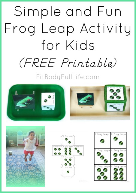 Simple and Fun Frog Leap for Kids {FREE Printable}