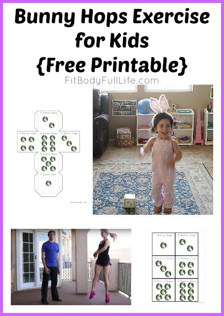Bunny Hops Exercise for Kids {Free Printable}