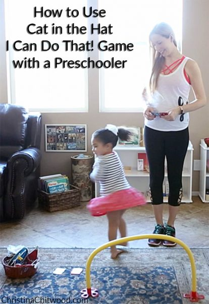 How to Use the Cat in the Hat I Can Do That! Game with a Preschooler