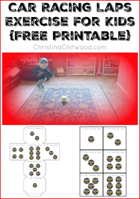 Car Racing Laps Exercise for Kids {FREE Printable}