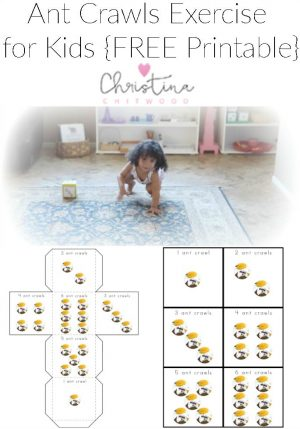 Ant Crawls Exercise for Kids {FREE Printable}