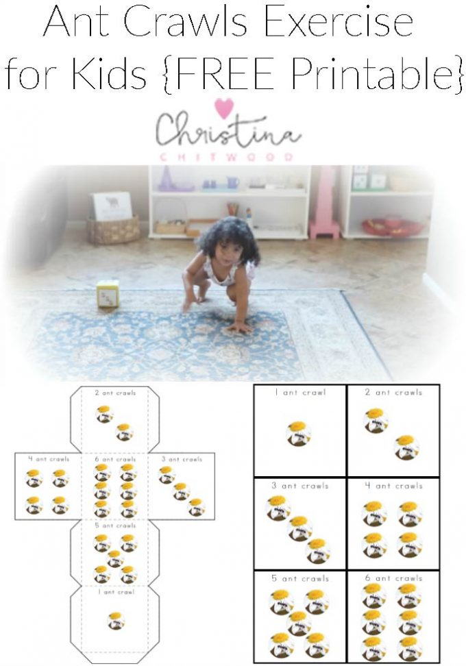 ant crawls exercise for kids free printable