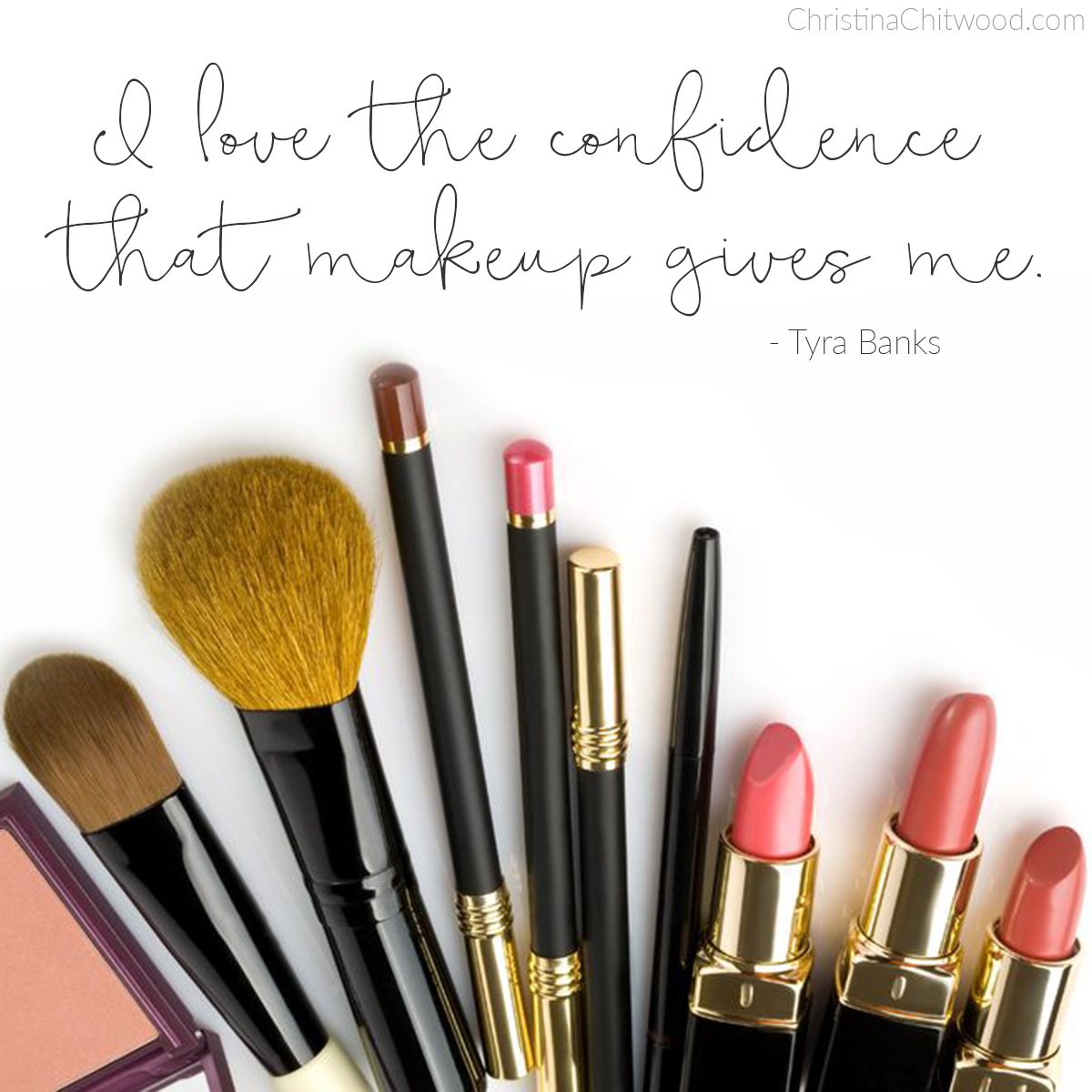 """The Confidence That Makeup Gives"" Word Art {Free Printable}"