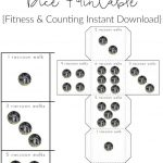 FREE Raccoon Walks Dice Printable {Fitness & Counting Instant Download}