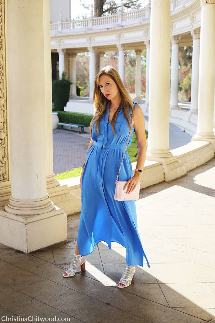 Silk Equipment Dress, Via Spiga Shoes, and Ted Baker Handbag - 1