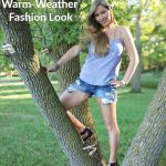Sparkle and Gingham Warm-Weather Fashion Look