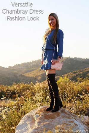 Versatile Chambray Dress Fashion Look
