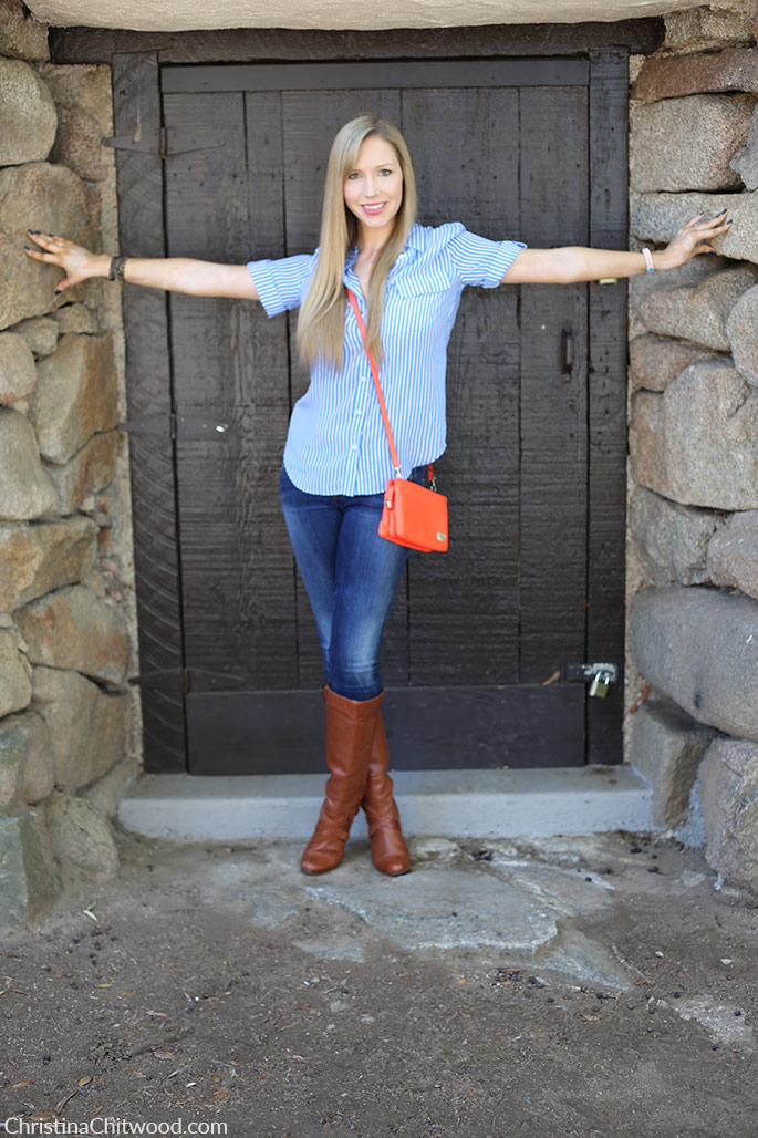 Silk Equipment Top, Red Engine Jeans, Vince Camuto Handbag, and Miz Mooz Boots - 3