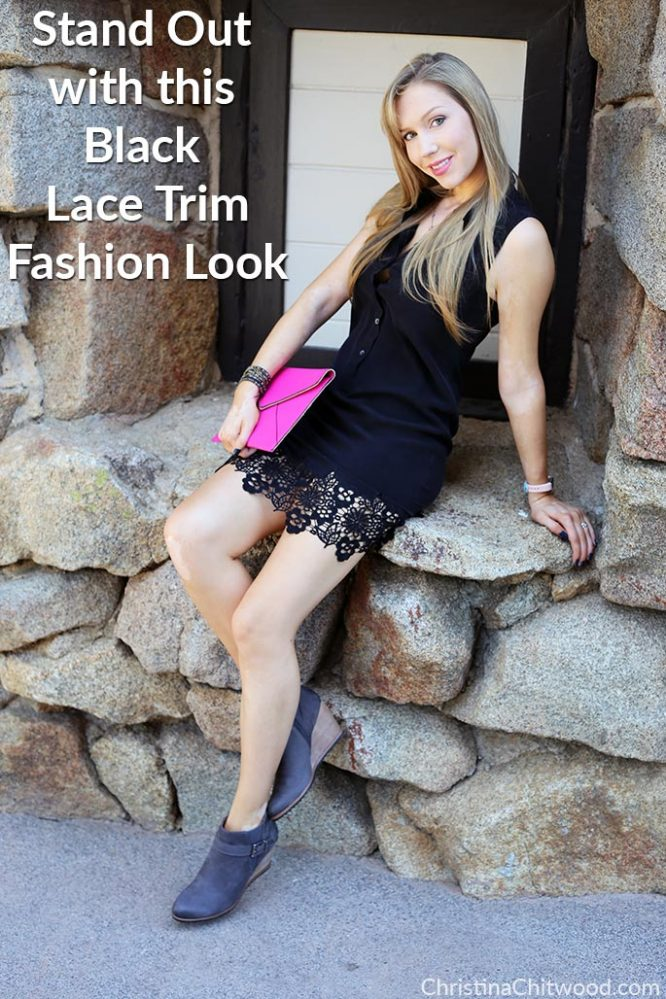 Stand Out with this Black Lace Trim Fashion Look