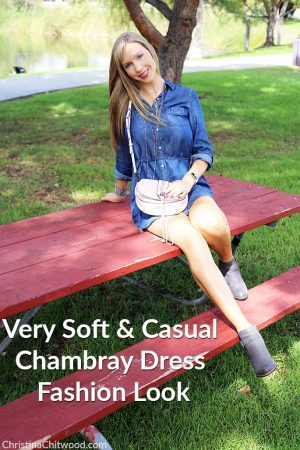 Very Soft and Casual Chambray Dress Fashion Look