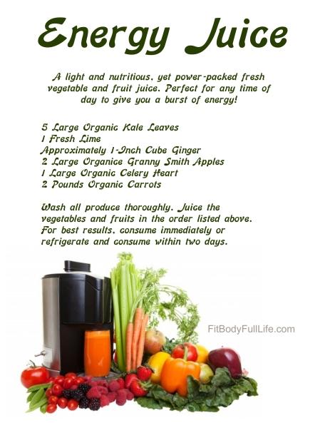 30-Day Nutrition Challenge: Energy Juice Recipe