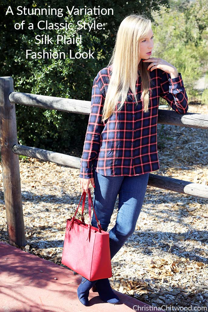 A Stunning Variation of a Classic Style: Silk Plaid Fashion Look