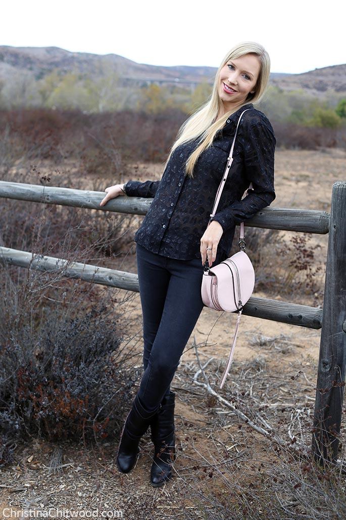 Equipment Top, Frame Jeans, Rebecca Minkoff Clutch, and Aquatalia Shoes - 3