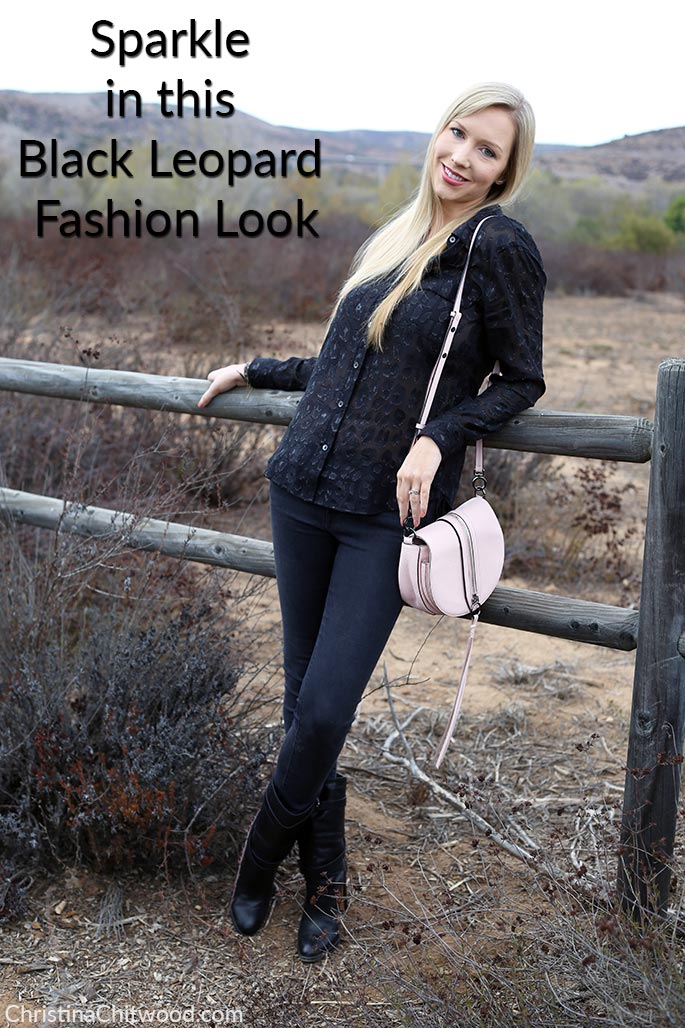 Sparkle in this Black Leopard Fashion Look