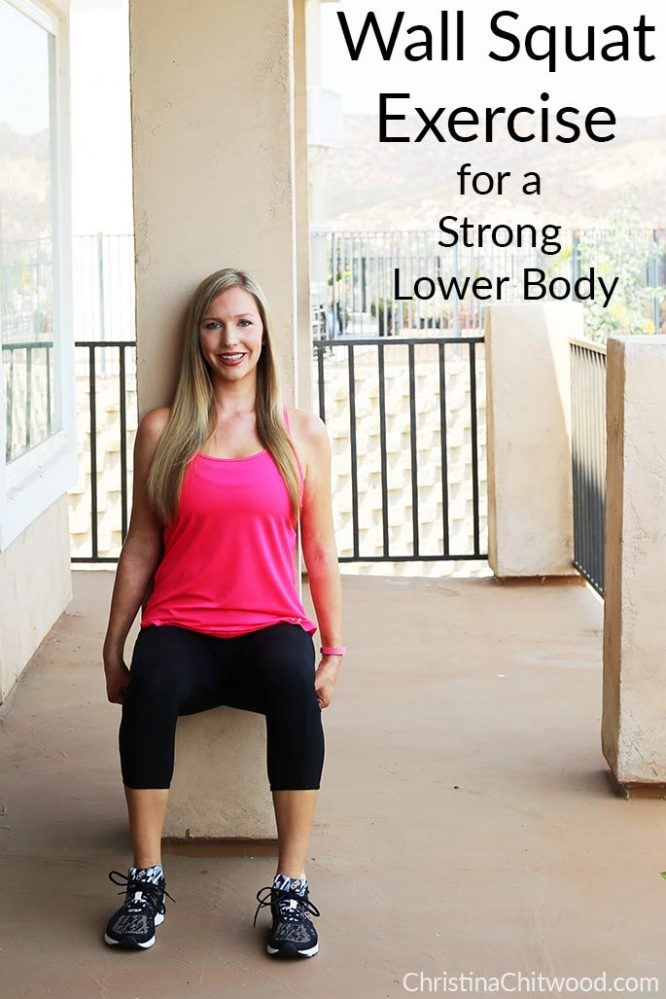 Wall Squat Exercise for a Strong Lower Body