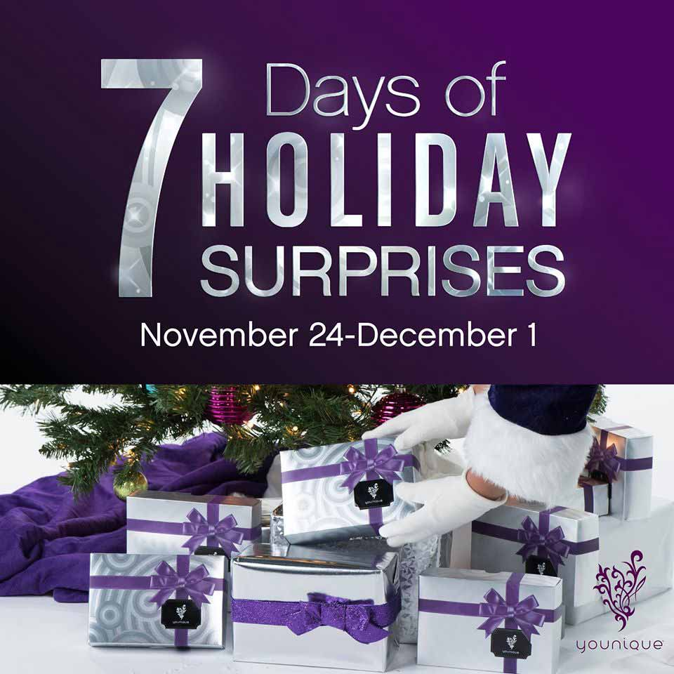 Younique 7 Days of Holiday Surprises Black Friday and Cyber Monday Sale