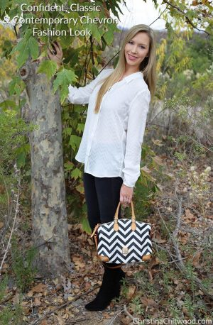 Confident, Classic, and Contemporary Chevron Fashion Look