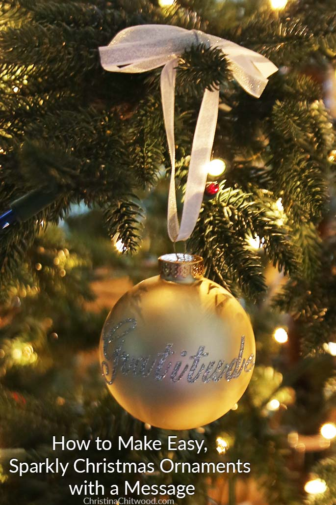 How to Make Easy, Sparkly Christmas Ornaments with a Message 2