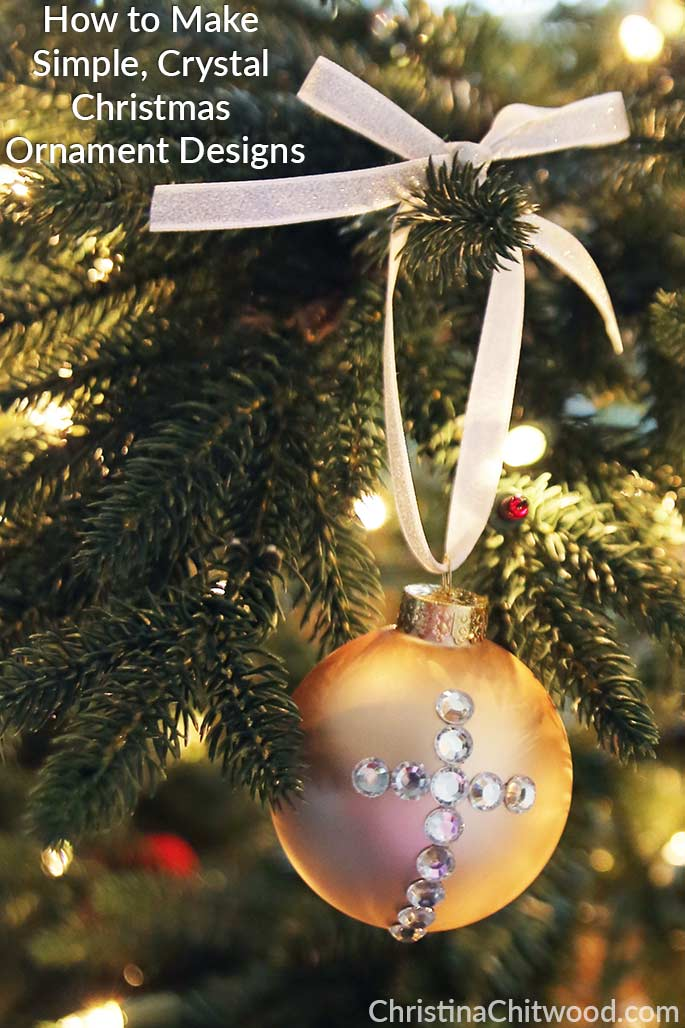 How to Make Simple, Crystal Christmas Ornament Designs 2