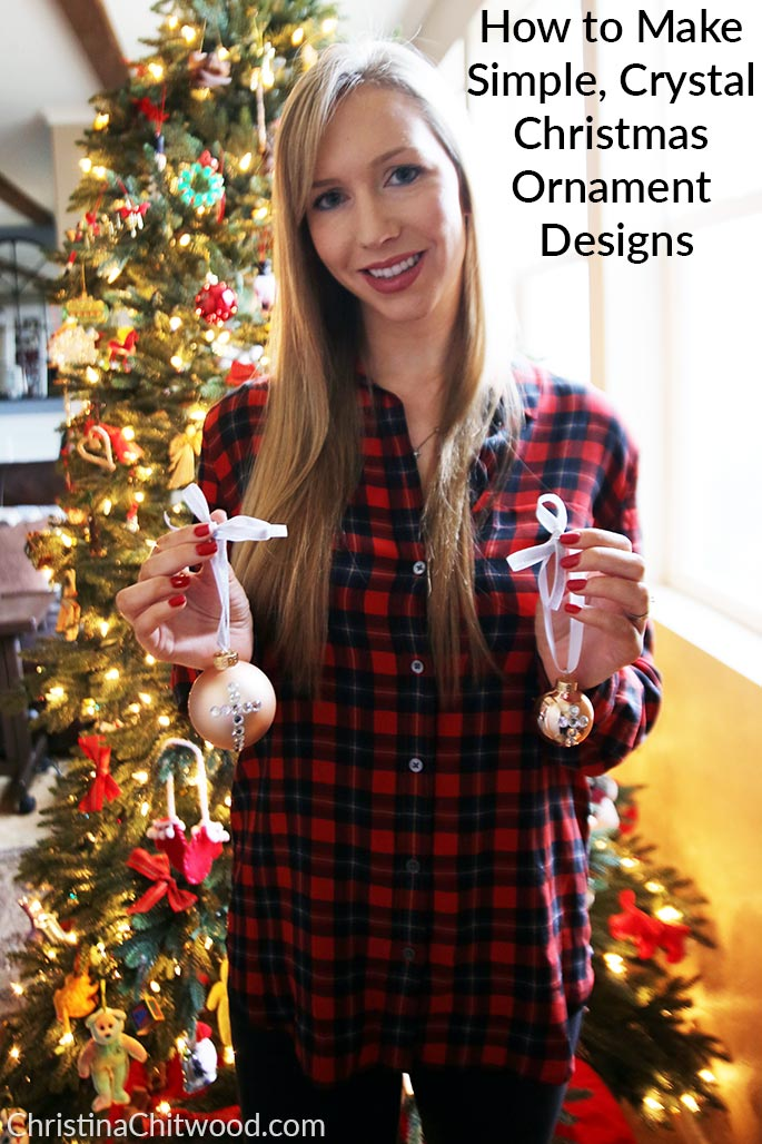 How to Make Simple, Crystal Christmas Ornament Designs