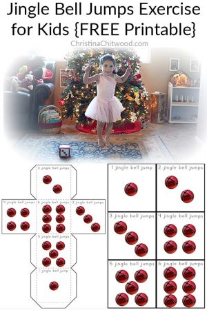 Jingle Bell Jumps Exercise for Kids {FREE Printable}