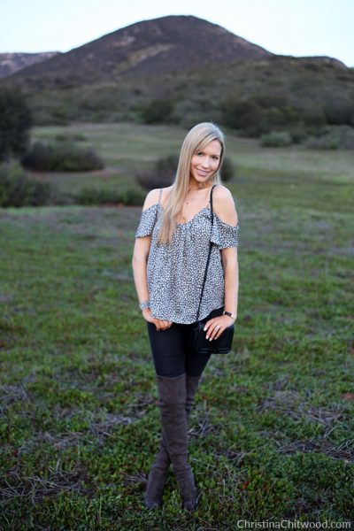 Joie Silk Top, Frame Jeans, Rebecca Minkoff Crossbody Handbag, and Marc Fisher Boots - 2