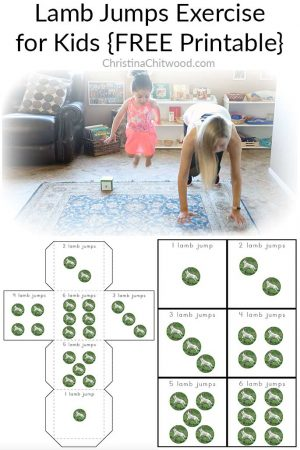 Lamb Jumps Exercise for Kids {FREE Printable}