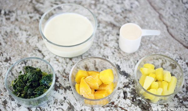 Super-Yummy and Healthy Kale, Mango, and Pineapple Smoothie Recipe {Vegan and Gluten-Free} - 1
