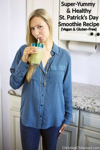 Super-Yummy and Healthy St. Patrick's Day Smoothie Recipe {Vegan and Gluten-Free}