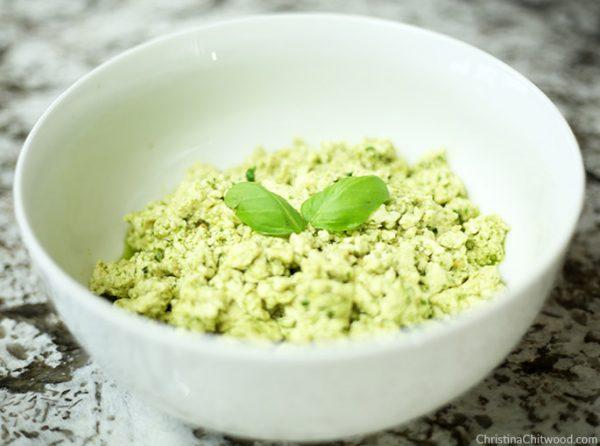 Vegan Pesto Scramble {Dr. Seuss Inspired Green Eggs} - 4