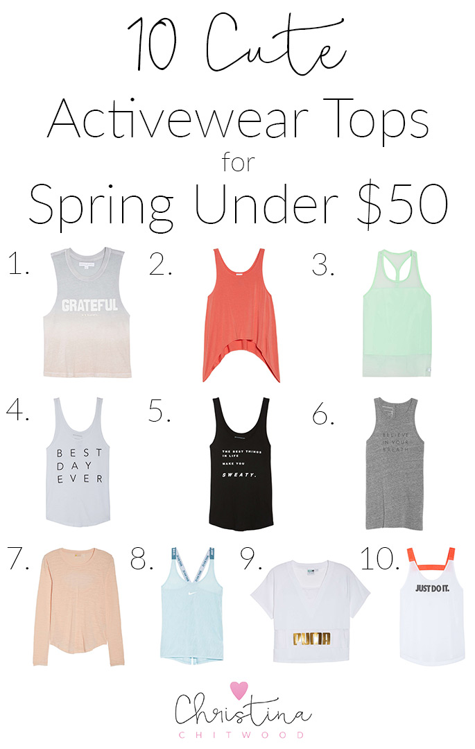 10 Cute Activewear Tops for Spring Under $50